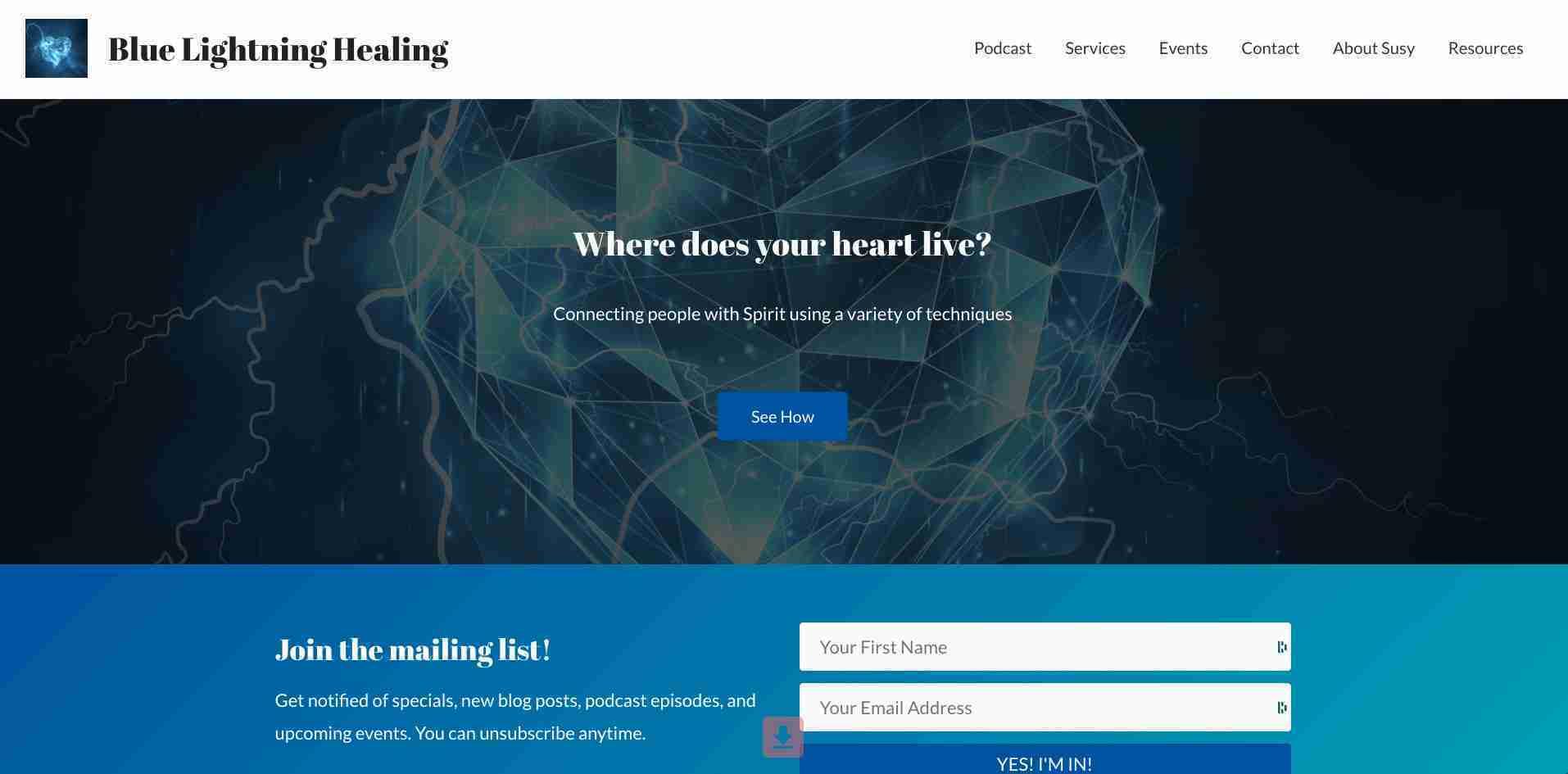 Blue Lightning Healing - Susy P. Goins