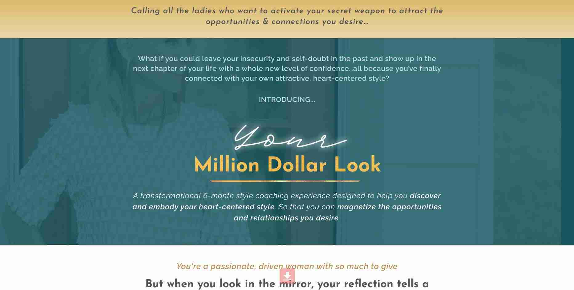 Your Million Dollar Look sales page - Erin Mathis